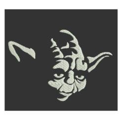 Yoda Face Machine Embroidery Design