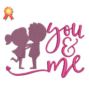 You And Me Machine Embroidery Design