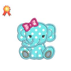 Baby girl elephant Machine Embroidery Design