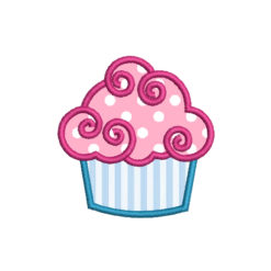 Cupcake Applique Machine Embroidery Design