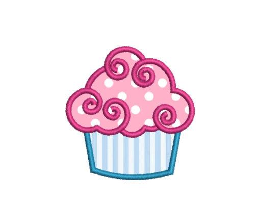 Cupcake Applique Machine Embroidery Design