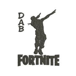 Dab Fortnite Machine Embroidery Design