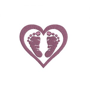 Heart Feet Machine Embroidery Design