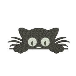 Peeking Cat Machine Embroidery Design