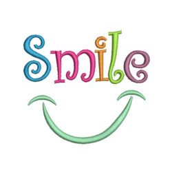 Smile Machine Embroidery Design
