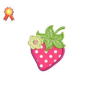 Strawberry Machine Embroidery Design