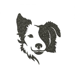 Border Collie Machine Embroidery Design