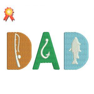 Dad Machine Embroidery Design