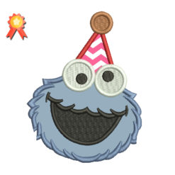First birthday Cookie Monster 2 Machine Embroidery Design