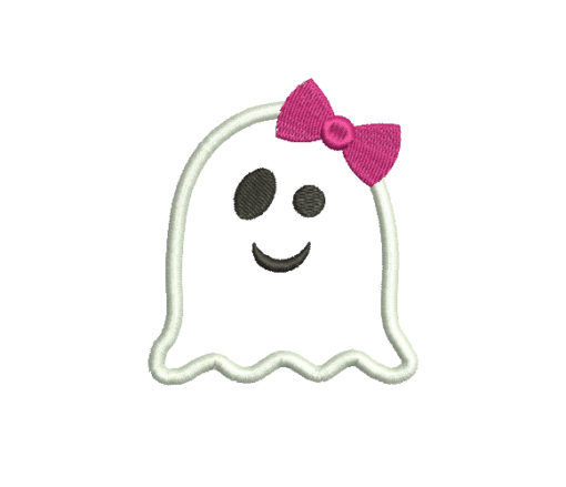 Ghost with bow Halloween