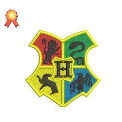 Hogwarts Crest Machine Embroidery Design