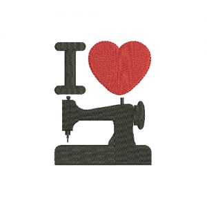I Love Sewing Machine Embroidery Design