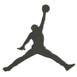 Jump Man Air Jordan Machine Embroidery Design