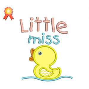 Little Miss Machine Embroidery Design