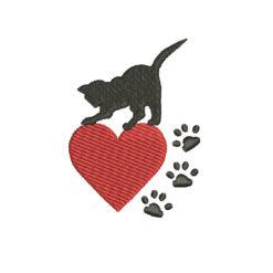Love Cats Machine Embroidery Design