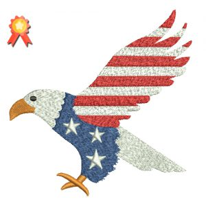 Patriotic Eagle Machine Embroidery Design