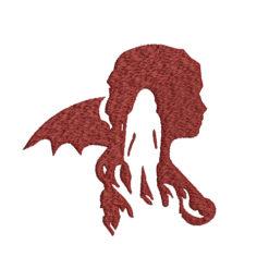 Daenerys Targaryen Machine Embroidery Design
