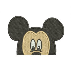 Mickey Mouse Face Machine Embroidery Design