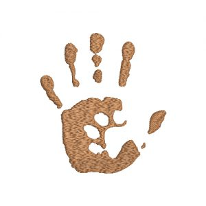 Puppy Dog Paw Print Machine Embroidery Design