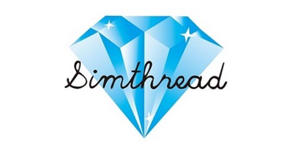 Simthread embroidery machine thread
