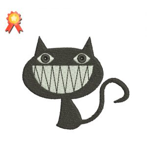 Smiling Cat Machine Embroidery Design