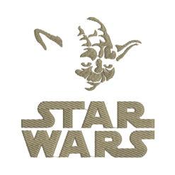Star Wars Yoda Machine Embroidery Design