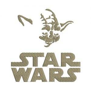Star Wars Yoda Machine Embroidery Design