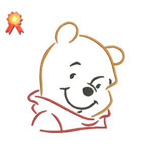 Winnie Pooh Silhouette Machine Embroidery Design