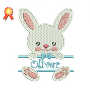 Bunny Boy Machine Embroidery Design