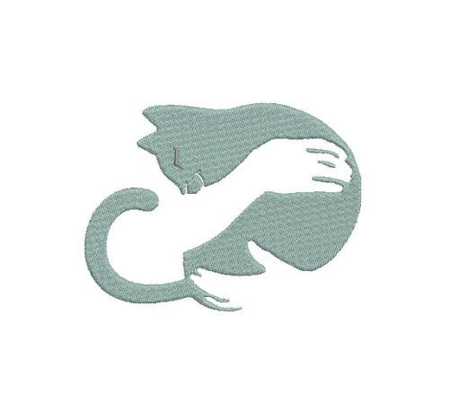 Cat Hug Machine Embroidery Design