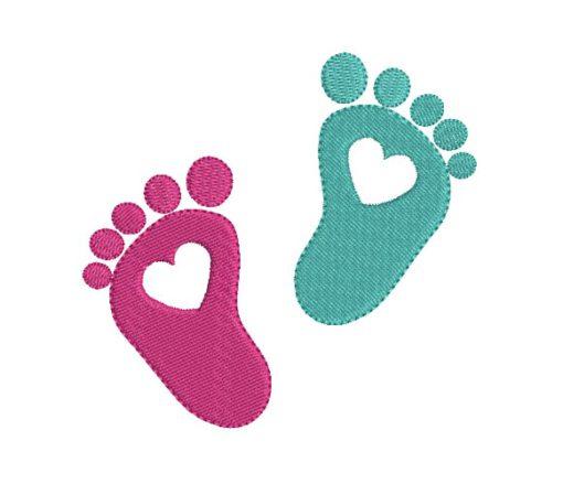 Foot Print Heart