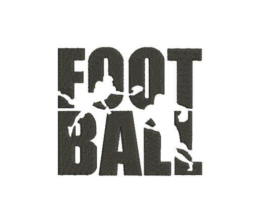 Football Machine Embroidery Design