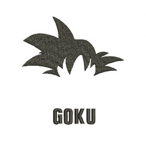 Goku Machine Embroidery Design