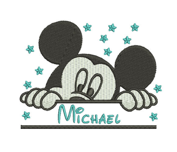 Mickey Mouse - Split Machine Embroidery custom Design.