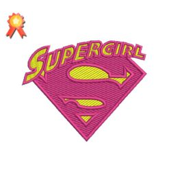 SuperGirl Machine Embroidery Design
