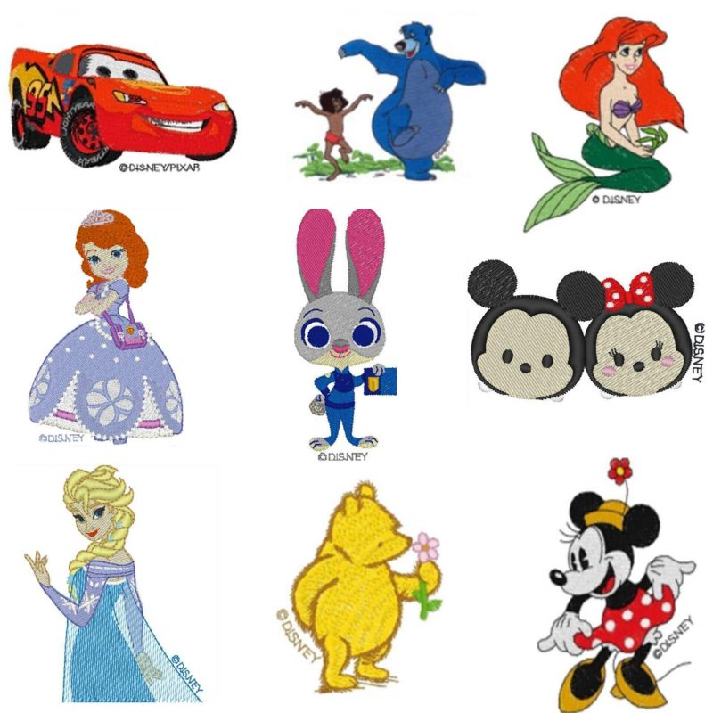 Browse the Disney and Disney-Pixar design collections on www.iBroidery.com. Here you will find your favorite classic and new Disney characters, giving you an endless supply of adorable project possibilities. Bring the magic of Disney to your fabrics! All rights reserved. ©Disney. *Additional purchase required.