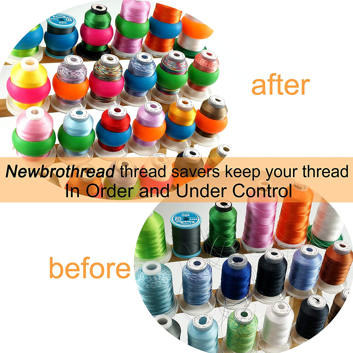 100pcs Thread Spool Savers