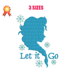 Frozen Elsa Machine Embroidery Design