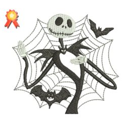 Jack Skellington Machine Embroidery Design