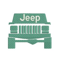 Jeep 5 Machine Embroidery Design. Includes following formats: DST, EXP, HUS, PES, JEF, SEW, XXX,VP3.