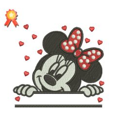 Minnie Mouse - Split Machine Embroidery Design