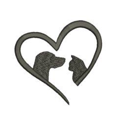 Pet Love Machine Embroidery Design