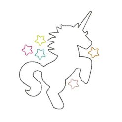 Unicorn Silhouette Machine Embroidery Design