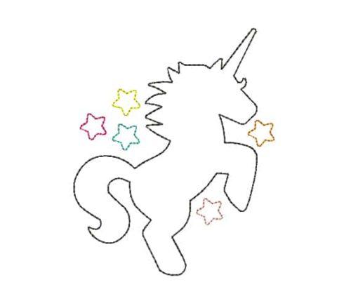 Unicorn Silhouette Machine Embroidery Design