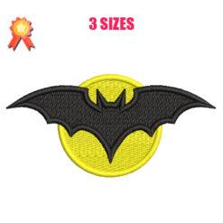 Batman Symbol Machine Embroidery Design