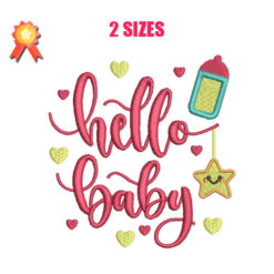Hello Baby Machine Embroidery Design