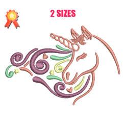 Unicorn 12 Machine Embroidery Design