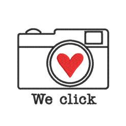 Valentine Camera Machine Embroidery Design