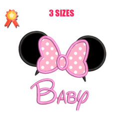 Baby Minnie Mouse Machine Embroidery Design