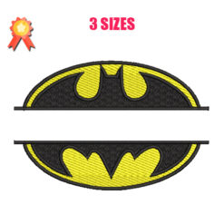Batman Split Machine Embroidery Design